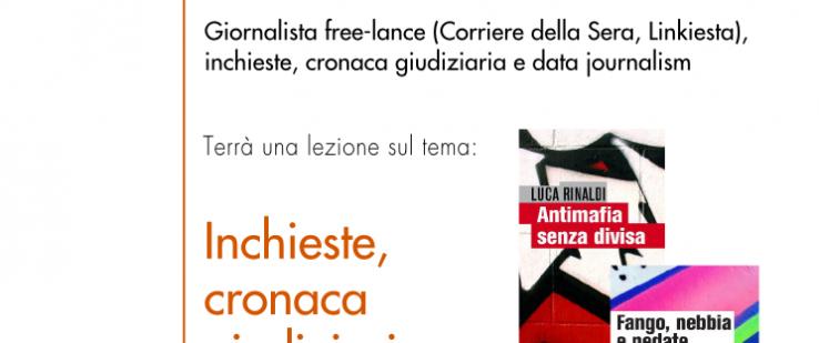 Luca Rinaldi ospite nel corso di Laboratorio di professioni della comunicazione