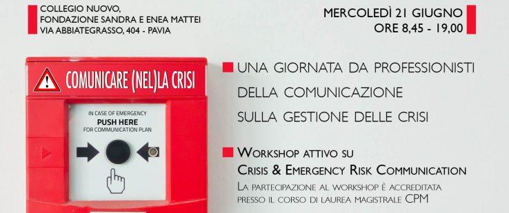Workshop attivo su Crisis & Emergency Risk Communication