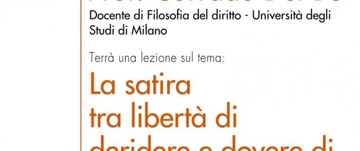 """""""La satira tra libertà di deridere e dovere di rispettare"""": Corrado Del Bò ospite a CIM"""
