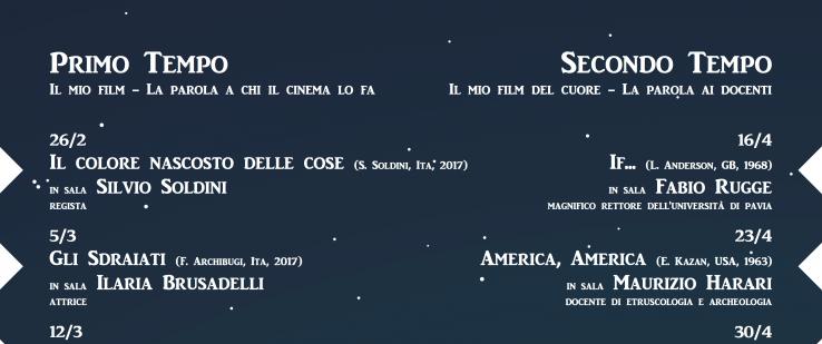 """26/02 – Inaugurazione della rassegna cinematografica """"Il mio film"""" al Cinema Volta"""