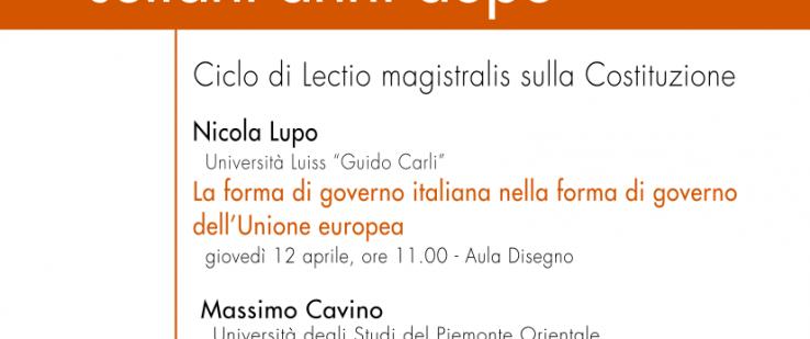 La Costituzione italiana settant'anni dopo